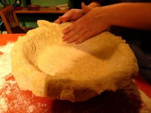 Пирог с лисичками и курицей - фото шаг 8