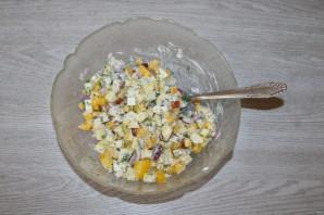 Салат с яблоком и болгарским перцем - фото шаг 6