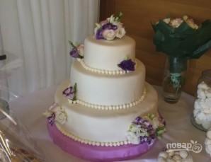 Свадебный торт в домашних условиях - фото шаг 13