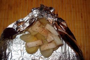 Картошка с салом в духовке в фольге - фото шаг 4
