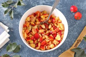 Слойки с яблоками и орехами - фото шаг 2