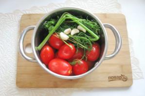 Засолка помидоров в кастрюле - фото шаг 5