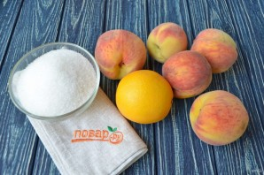 Варенье из персиков с апельсинами - фото шаг 1
