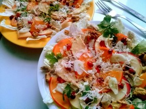 Салат с хурмой - фото шаг 5