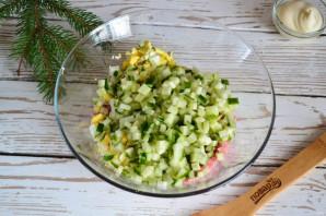 Салат с колбасой и вермишелью быстрого приготовления - фото шаг 4