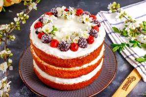 Торт с замороженными ягодами - фото шаг 8