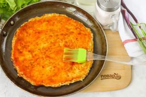 ПП пицца на сковороде - фото шаг 7