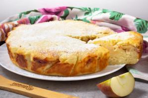 Манник без яиц с яблоками - фото шаг 8