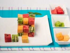 Салат из свежих фруктов - фото шаг 3