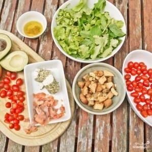 Салат с лососем и козьим сыром - фото шаг 1