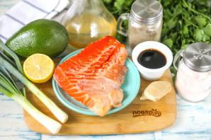 Тартар из лосося по-азиатски - фото шаг 1