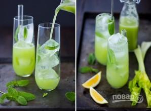 Летний напиток с мятой и сельдереем - фото шаг 4