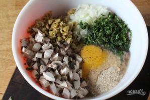 Шарики из индейки с грибами и оливками - фото шаг 2