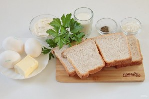 """Тосты с яйцами """"Приятный завтрак"""" - фото шаг 1"""