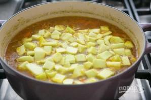 Зимний суп с курицей - фото шаг 6