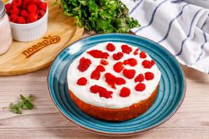 Бисквитный торт с малиной - фото шаг 6