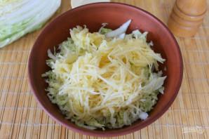 Салат с пекинской капустой и яблоком - фото шаг 3