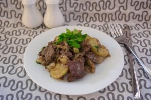 Печень с картошкой - фото шаг 6