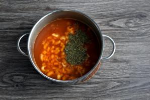 Суп с фасолью и тыквой - фото шаг 6