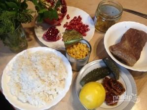 Салат с рисом и говядиной - фото шаг 1