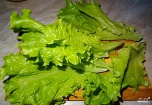 Салат с перепелиными яйцами и тунцом - фото шаг 1