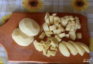 Сырный суп с шампиньонами - фото шаг 1