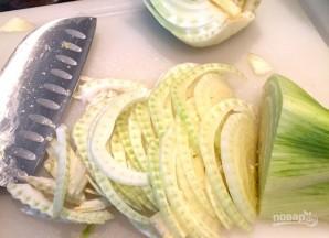Салат с фенхелем, рукколой и апельсином - фото шаг 3