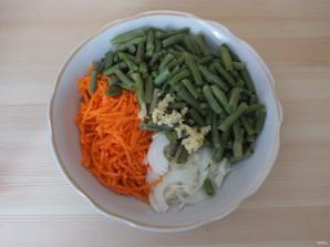 Корейский салат с зеленой фасолью - фото шаг 4