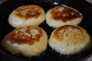 Ленивые пирожки с зеленым луком и яйцом - фото шаг 7