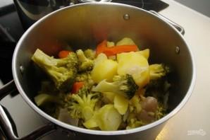 Овощной суп-пюре с брокколи - фото шаг 4