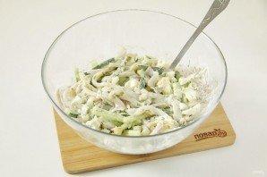 ПП салат с кальмаром - фото шаг 8