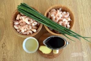 Жареные креветки с медом и чесноком - фото шаг 1