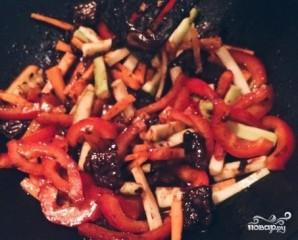 Лапша со свининой в соусе терияки - фото шаг 4