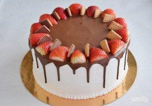 Шоколадный торт с кремом-чиз - фото шаг 11