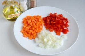 Гречка с овощами в духовке - фото шаг 2