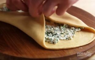 Лепешки к шашлыку с зеленью и творогом - фото шаг 6