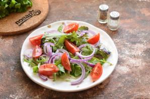 Салат из гребешков с рукколой - фото шаг 5