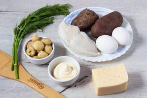 Салат с картофелем, грибами и курицей - фото шаг 1