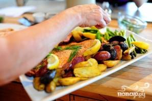 Жареный лосось с картофелем, спаржей и каперсами - фото шаг 5