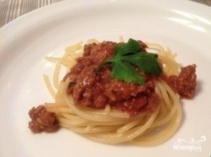 Мясной соус к спагетти - фото шаг 6