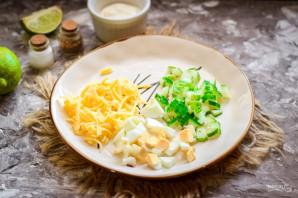 Грибной салат с сыром - фото шаг 4