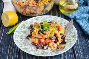 Постный салат с фасолью и кукурузой - фото шаг 6