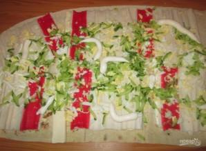 Рулеты из лаваша с плавленым сыром - фото шаг 2