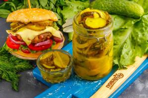 Маринованные огурцы для гамбургеров - фото шаг 8