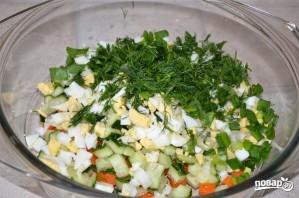 Салат с печенью трески - фото шаг 3