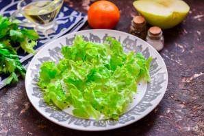 Салат с креветками и мандаринами - фото шаг 2