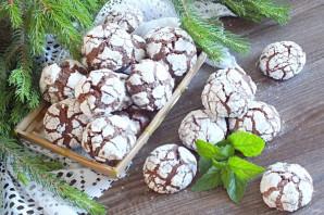 Шоколадное печенье с кракелюрами - фото шаг 12