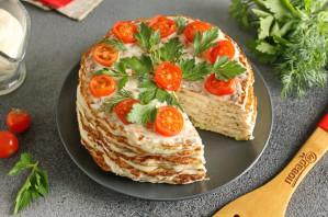 Мясной торт из фарша