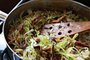 Азиатский салат со свининой и грибами - фото шаг 5