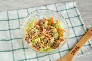 Салат с пекинской капустой и сайрой - фото шаг 7